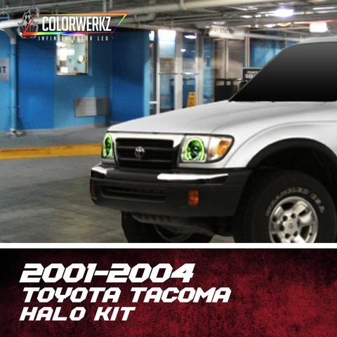 2001-2004 Toyota Tacoma Color-Chasing Halo Kit LED headlight kit AutoLEDTech Colorwerkz Oracle Lighting Trendz Flow Series Flashtech