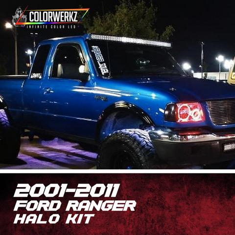 2001-2011 Ford Ranger Color-Chasing Halo Kit LED headlight kit  AutoLEDTech Colorwerkz Oracle Starry Night Flashtech