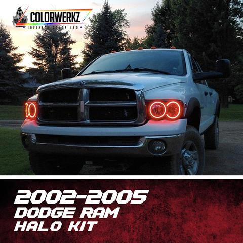 2002-2005 Dodge Ram Color-Chasing Halo Kit LED headlight kit  AutoLEDTech Colorwerkz Oracle Starry Night Flashtech