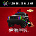 2003-2006 Chevrolet Silverado Color-Chasing Halo Kit LED headlight kit AutoLEDTech Colorwerkz Oracle Lighting Trendz Flow Series Flashtech