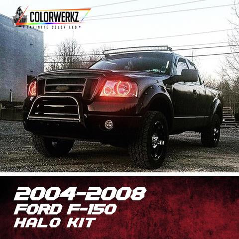 2004-2008 Ford F150 Color-Chasing Halo Kit LED headlight kit AutoLEDTech Colorwerkz Oracle Lighting Trendz Flow Series Flashtech RGBHaloKits LED Concepts