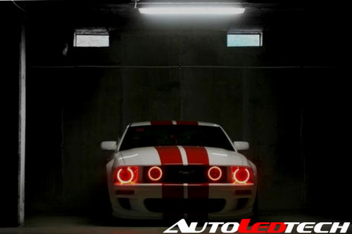 2005-2009 Ford Mustang Color-Chasing Halo Kit LED headlight kit  AutoLEDTech Colorwerkz Oracle Starry Night Flashtech