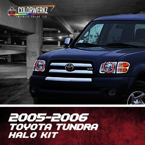 2005-2006 Toyota Tundra Color-Chasing Halo Kit LED headlight kit  AutoLEDTech Colorwerkz Oracle Starry Night Flashtech