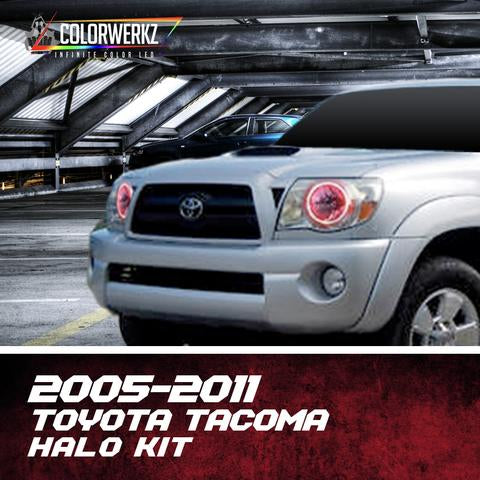 2005-2011 Toyota Tacoma Color-Chasing Halo Kit LED headlight kit  AutoLEDTech Colorwerkz Oracle Starry Night Flashtech
