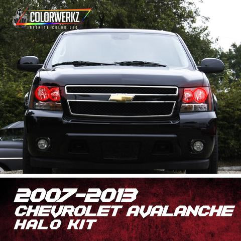 2007-2013 Chevrolet Avalanche Color-Chasing Halo Kit LED headlight kit AutoLEDTech Colorwerkz Oracle Lighting Trendz Flow Series Flashtech RGBHaloKits LED Concepts