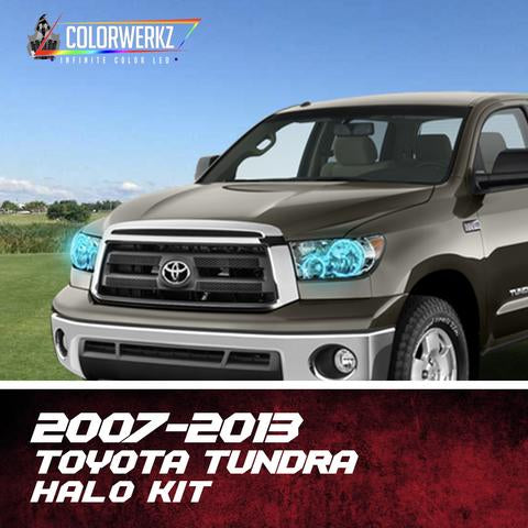 2007-2013 Toyota Tundra Color-Chasing Halo Kit LED headlight kit  AutoLEDTech Colorwerkz Oracle Starry Night Flashtech