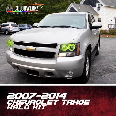 2007-2014 Chevrolet Tahoe Color-Chasing Halo Kit LED headlight kit AutoLEDTech Colorwerkz Oracle Lighting Trendz Flow Series Flashtech RGBHaloKits LED Concepts