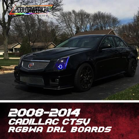 2009-2015 Cadillac CTS-V RGBW +A DRL Boards LED headlight kit  AutoLEDTech Colorwerkz Oracle Starry Night Flashtech
