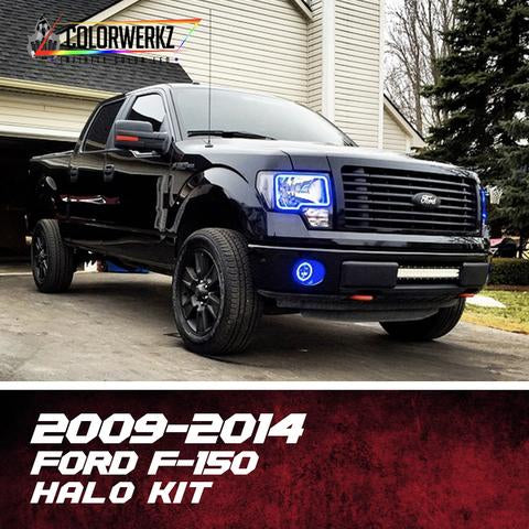 2009-2014 Ford F-150 & Raptor Color-Chasing Halo Kit LED headlight kit  AutoLEDTech Colorwerkz Oracle Starry Night Flashtech