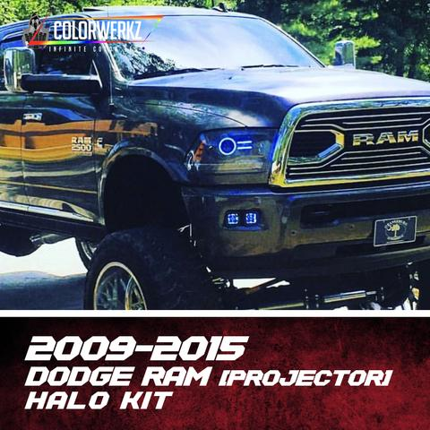 2009-2015 Dodge Ram Color-Chasing Halo Kit (Projector) LED headlight kit AutoLEDTech Colorwerkz Oracle Lighting Trendz Flow Series Flashtech