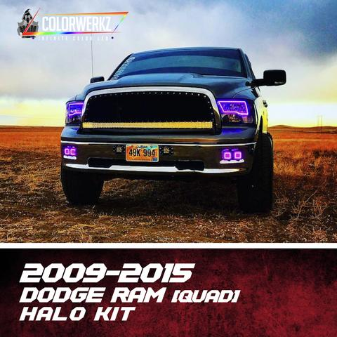 2009-2015 Dodge Ram Color-Chasing Halo Kit (Quad) LED headlight kit  AutoLEDTech Colorwerkz Oracle Starry Night Flashtech
