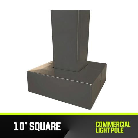 Commercial Light Pole - 10' Square Base - PanhandleLEDs Commercial LED lighting