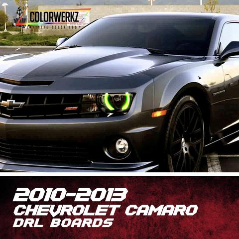 2010-2013 Chevrolet Camaro RGBW +A DRL Boards LED headlight kit AutoLEDTech Colorwerkz Oracle Lighting Trendz Flow Series Flashtech RGBHaloKits LED Concepts