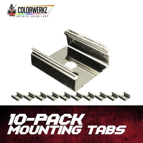10-Pack of Aluminum Mounting Tabs LED headlight kit AutoLEDTech Colorwerkz Oracle Lighting Trendz Flow Series Flashtech RGBHaloKits LED Concepts