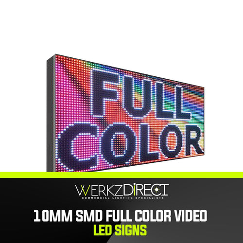 Full Color Video Outdoor LED Sign - 10mm SMD - PanhandleLEDs Commercial LED lighting