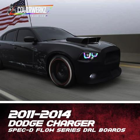 2011-2014 Dodge Charger Spec-D Color-Chasing DRL Boards