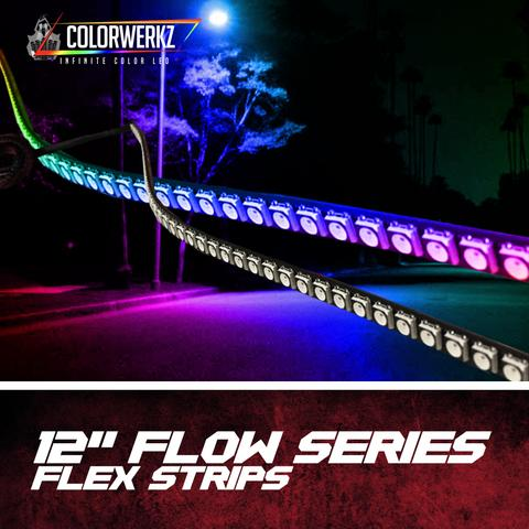 "12"" Flow Series Flex Strips LED headlight kit  AutoLEDTech Colorwerkz Oracle Starry Night Flashtech"