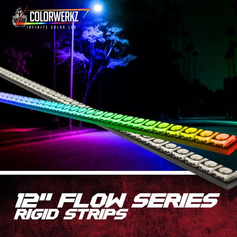 "12"" Flow Series Rigid Strips LED headlight kit  AutoLEDTech Colorwerkz Oracle Starry Night Flashtech"