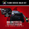 2013-2017 Dodge Ram Color-Chasing Halo Kit (Projector Outline) LED headlight kit  AutoLEDTech Colorwerkz Oracle Starry Night Flashtech