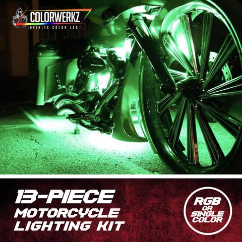 Motorcycle LED Lighting Kit 13-Piece Plug & Play (Single Color) LED headlight kit  AutoLEDTech Colorwerkz Oracle Starry Night Flashtech