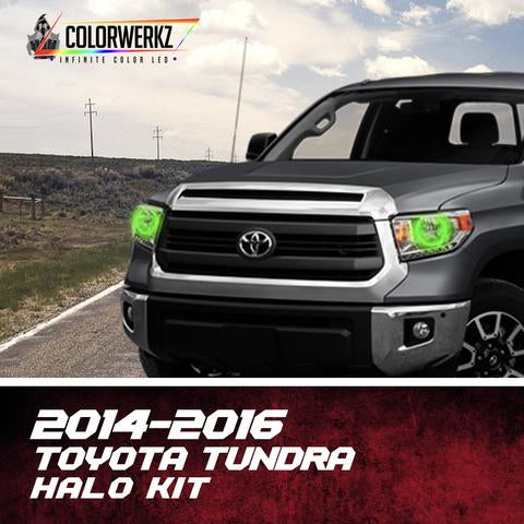 2014-2016 Toyota Tundra Color-Chasing Halo Kit LED headlight kit AutoLEDTech Colorwerkz Oracle Lighting Trendz Flow Series Flashtech RGBHaloKits LED Concepts