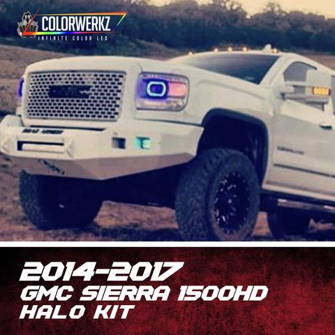 2014-2019 GMC Sierra Color-Chasing Halo Kit LED headlight kit AutoLEDTech Colorwerkz Oracle Lighting Trendz Flow Series Flashtech RGBHaloKits LED Concepts