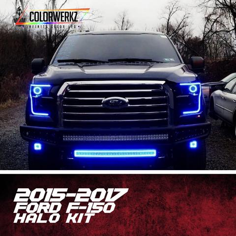2015-2017 Ford F150 Color-Chasing Halo Kit LED headlight kit  AutoLEDTech Colorwerkz Oracle Starry Night Flashtech