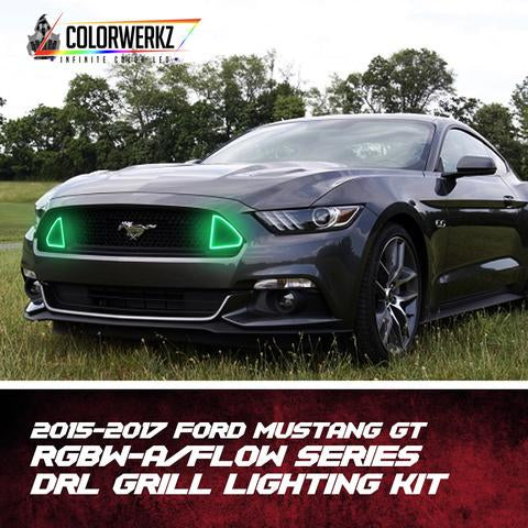 2015-2017 Ford Mustang Exterior LED Grill Lights LED headlight kit  AutoLEDTech Colorwerkz Oracle Starry Night Flashtech