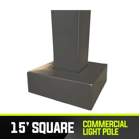 Commercial Light Pole - 15' Square Base - PanhandleLEDs Commercial LED lighting