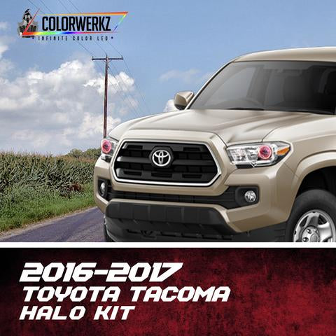 2016-2018 Toyota Tacoma Color-Chasing Halo Kit LED headlight kit  AutoLEDTech Colorwerkz Oracle Starry Night Flashtech