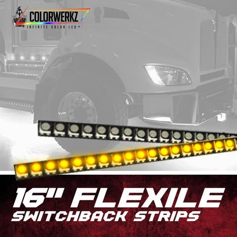 "16"" Flexile Switchback Strips LED headlight kit  AutoLEDTech Colorwerkz Oracle Starry Night Flashtech"