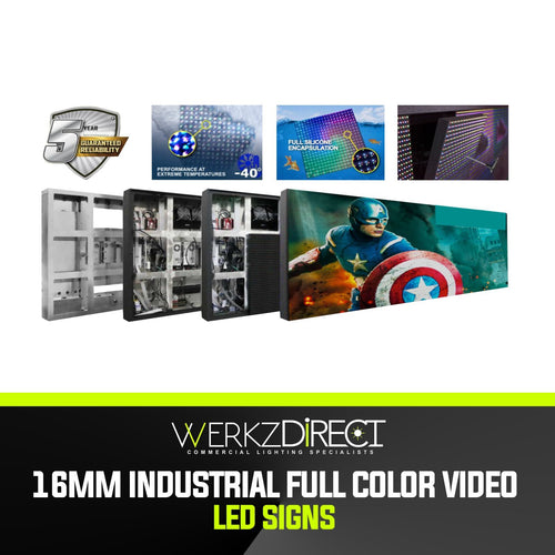 Industrial Full Color Video LED Sign with PC Programming - 16mm - PanhandleLEDs Commercial LED lighting