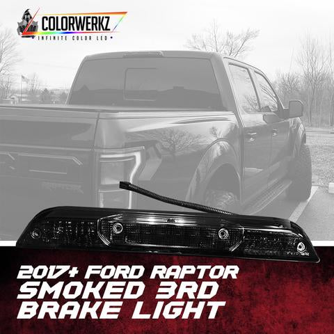 2017-2018 Ford Raptor Smoked 3rd Brake Light LED headlight kit  AutoLEDTech Colorwerkz Oracle Starry Night Flashtech