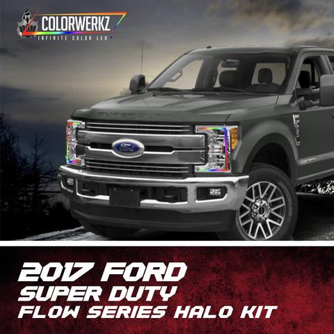 2017-2018 Ford F250 F350 Color-Chasing Halo Kit + Sequential Turn Signal LED headlight kit  AutoLEDTech Colorwerkz Oracle Starry Night Flashtech