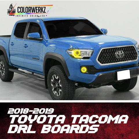 2018-2019 Toyota Tacoma RGBW +A DRL Boards LED headlight kit AutoLEDTech Colorwerkz Oracle Lighting Trendz Flow Series Flashtech RGBHaloKits LED Concepts