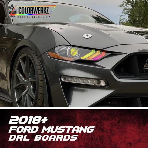 2018-2020 Ford Mustang RGBW Color-Chasing/RGBW +A LED DRL Boards LED headlight kit AutoLEDTech Colorwerkz Oracle Lighting Trendz Flow Series Flashtech