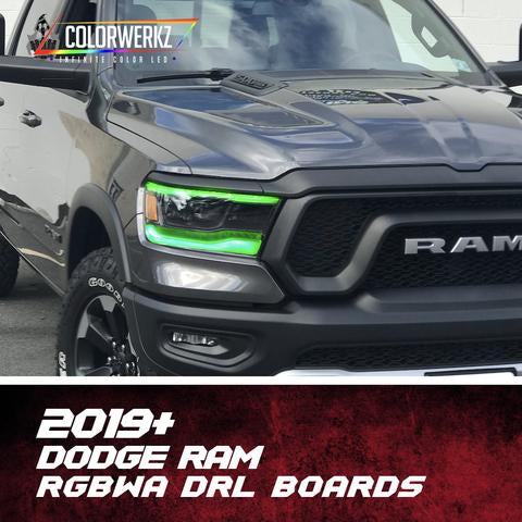 2019 Dodge Ram RGBW +A LED DRL Boards LED headlight kit AutoLEDTech Colorwerkz Oracle Lighting Trendz Flow Series Flashtech RGBHaloKits LED Concepts