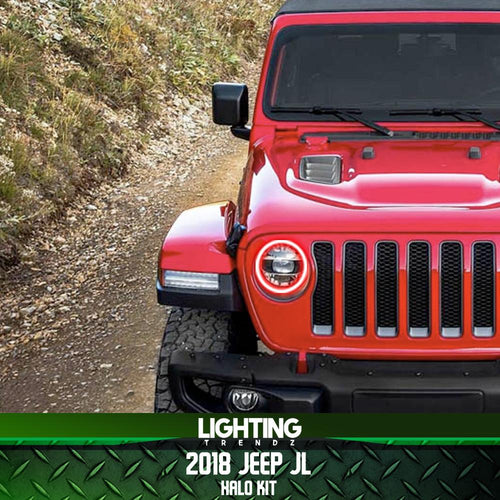 2018-2020 Jeep Wrangler/Gladiator JL Color-Chasing Halo Kit