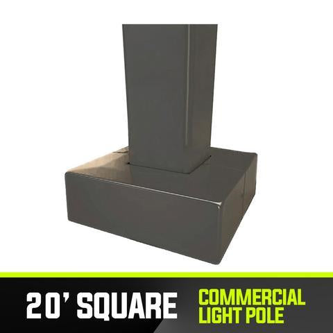 Commercial Light Pole - 20' Square Base - PanhandleLEDs Commercial LED lighting