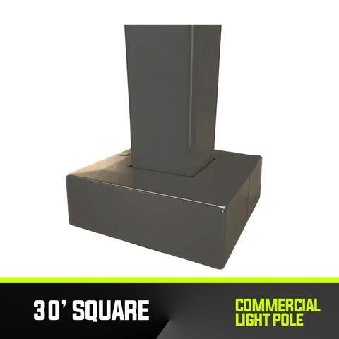 Commercial Light Pole - 30' Square Base - PanhandleLEDs Commercial LED lighting