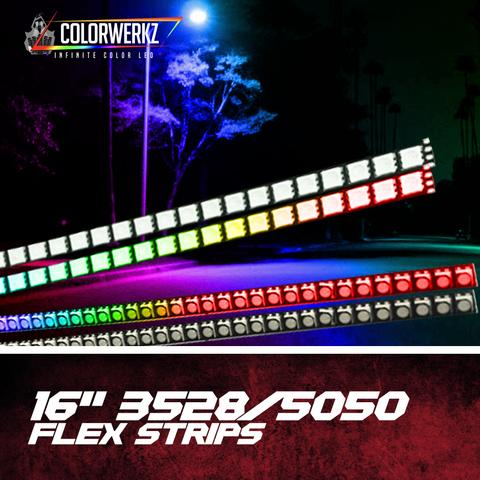 "16"" Flexile RGB LED Strips LED headlight kit  AutoLEDTech Colorwerkz Oracle Starry Night Flashtech"