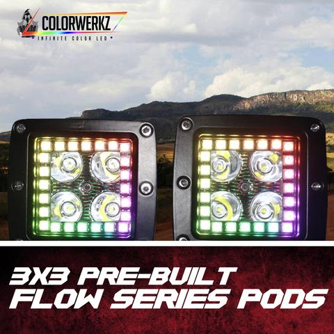 Flow Series 3x3 LED Halo Pods