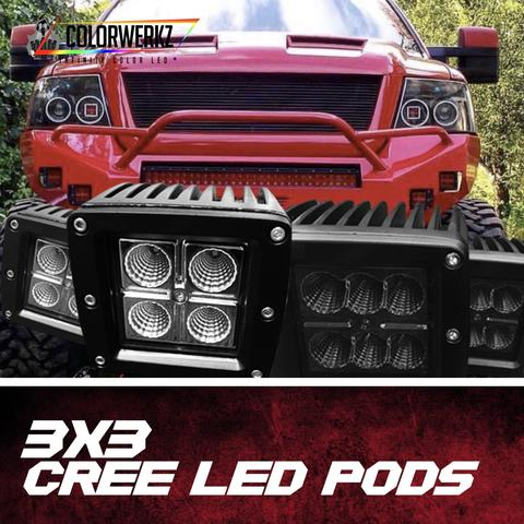 Standard Series 3X3 LED Pods + Halos LED headlight kit  AutoLEDTech Colorwerkz Oracle Starry Night Flashtech
