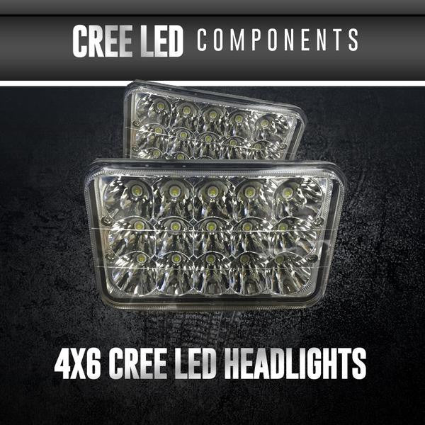 4x6 CREE LED Headlights LED headlight kit  AutoLEDTech Colorwerkz Oracle Starry Night Flashtech