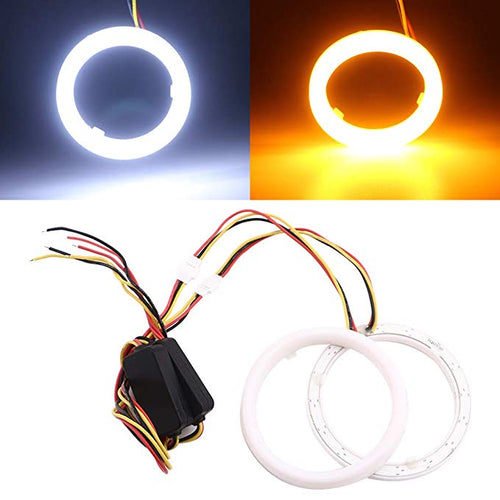Waterproof Switchback White/Amber LED Halo Rings (60mm-130mm)