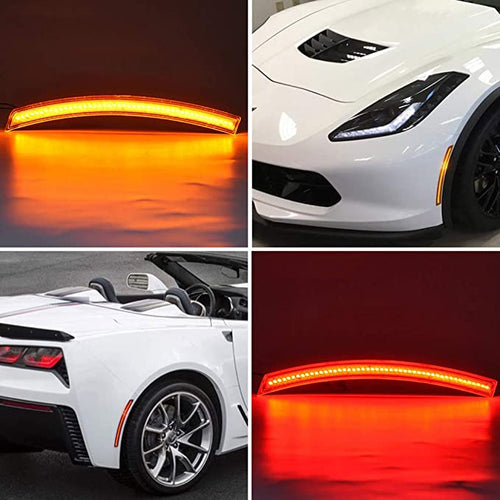 2014-2019 Chevrolet C7 Corvette Clear or Smoked LED Side Markers Lights