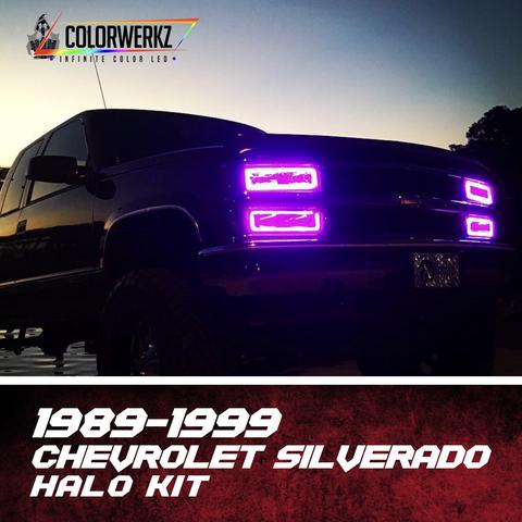 1989-1999 Chevrolet 1500/Tahoe OBS Color-Chasing Halo Kit LED headlight kit AutoLEDTech Colorwerkz Oracle Lighting Trendz Flow Series Flashtech RGBHaloKits LED Concepts