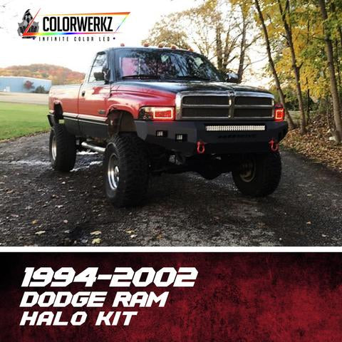 1994-2002 Dodge Ram Color-Chasing Halo Kit LED headlight kit  AutoLEDTech Colorwerkz Oracle Starry Night Flashtech