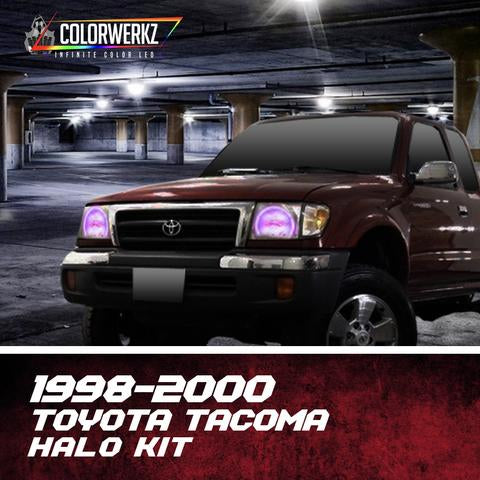 1998-2000 Toyota Tacoma Color-Chasing Halo Kit LED headlight kit  AutoLEDTech Colorwerkz Oracle Starry Night Flashtech