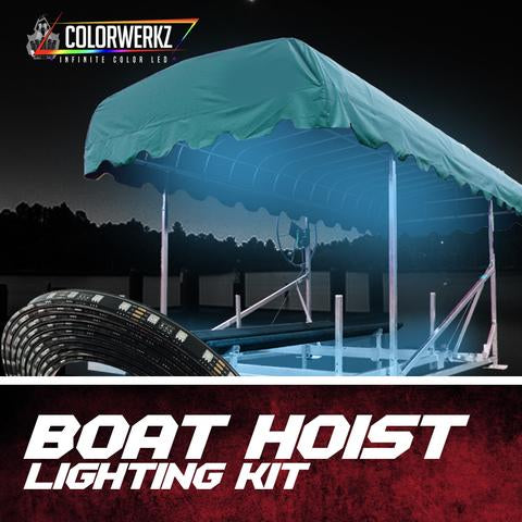 Color-Changing Boat Hoist Lift Lighting Kit LED headlight kit AutoLEDTech Colorwerkz Oracle Lighting Trendz Flow Series Flashtech RGBHaloKits LED Concepts